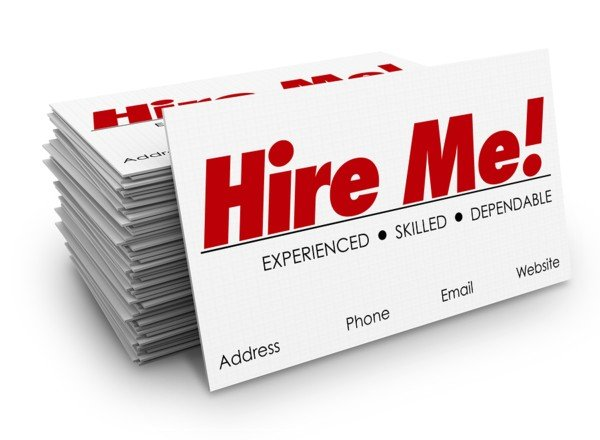 Hire Me Card