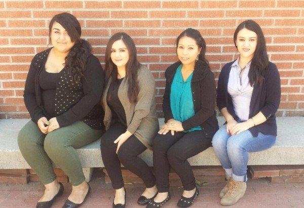 CSULB students Noriela Flores, Deysi Torres, Sophia Kien, and Gabriela Gomez Aquino