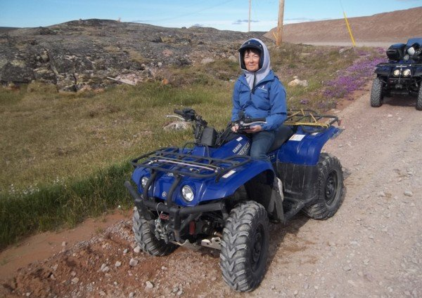 Audrey Morrison on a 4-Wheeler