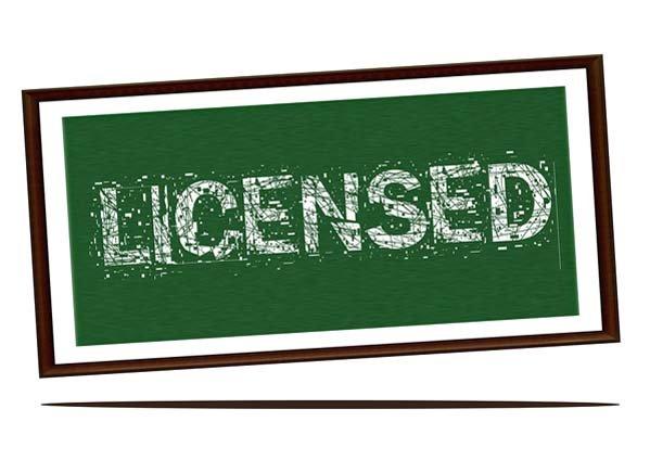 Licensed Sign