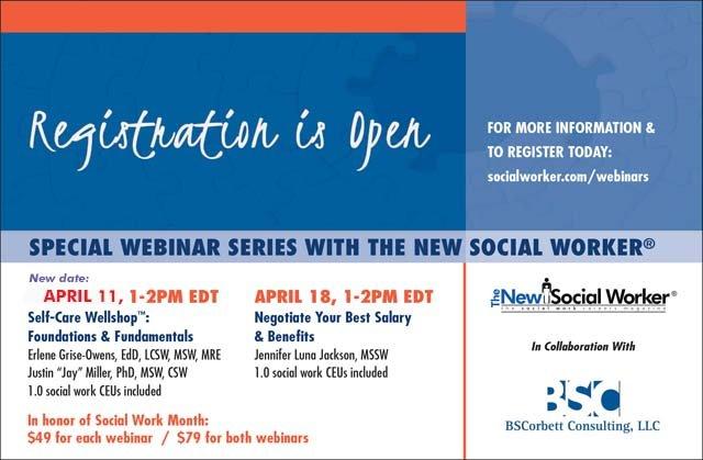 The New Social Worker Spring 2018 Webinar Series Revised