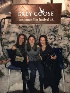 Elisabeth, Charlotte, and SaraKay at Sundance
