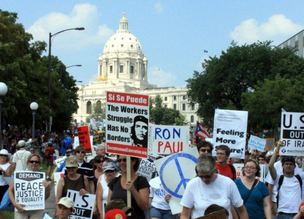 March on RNC in Minneapolis