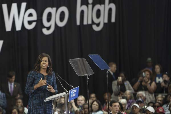 Michelle Obama We Go High