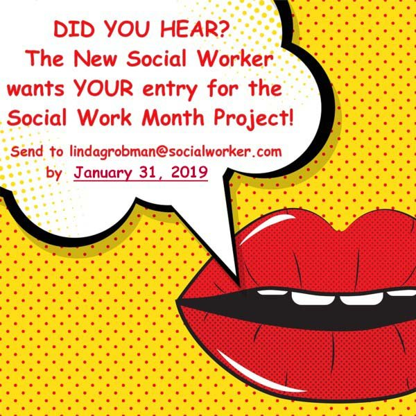 Social Work Month call for entries 2019