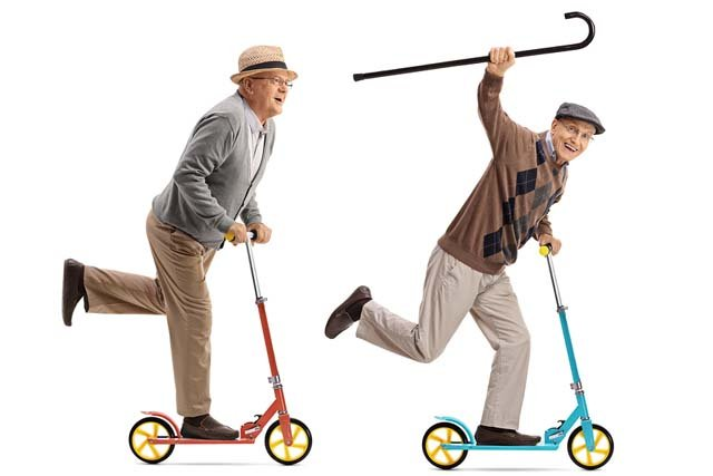Seniors on Scooters