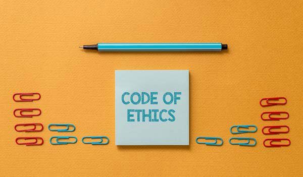 Code of Ethics with paperclips