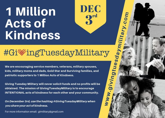 Giving Tuesday Military