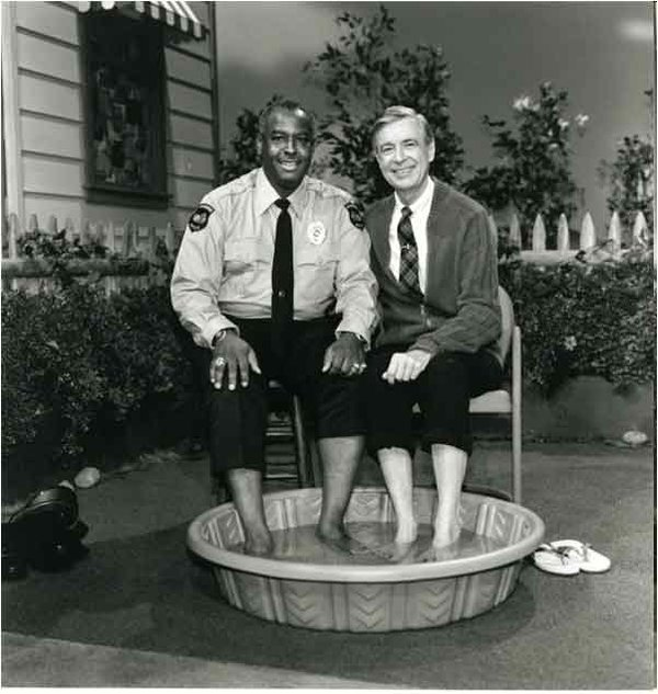 Mr. Rogers with Officer Clemmons