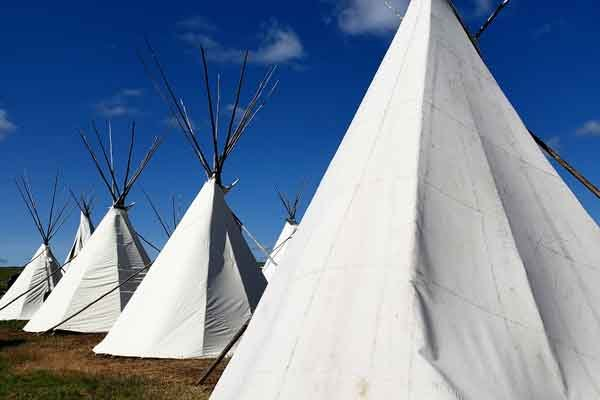 Teepees at Fort Peck Reservation