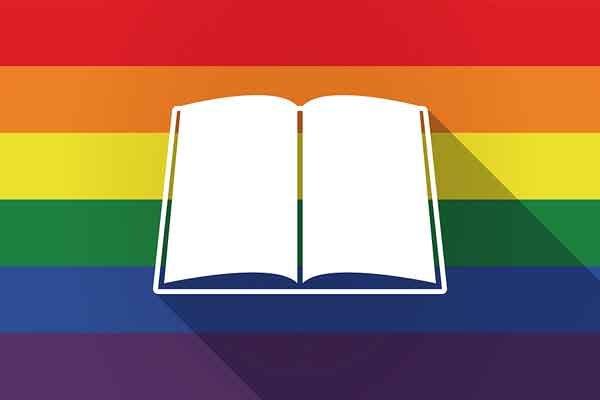 Book With Rainbow Flag