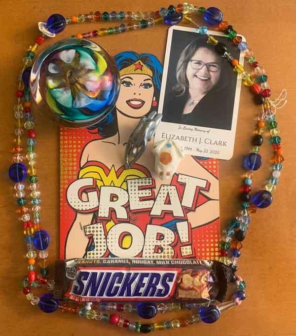 Mementoes from Betsy Clark to Becky Corbett