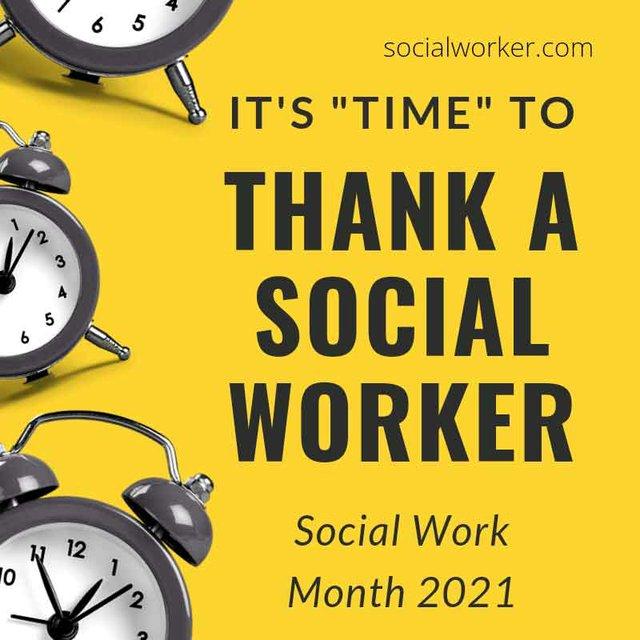 Thank a Social Worker Social Work Month 2021