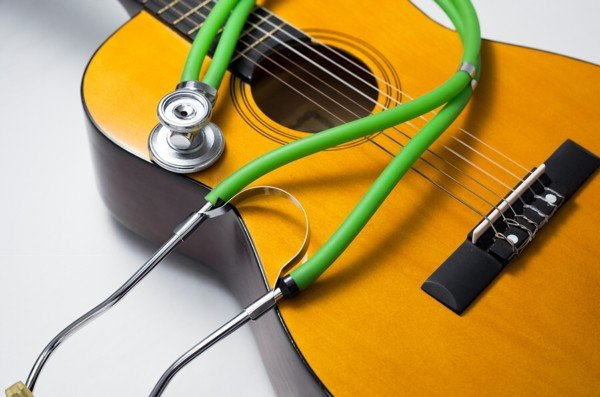 Guitar and Stethoscope