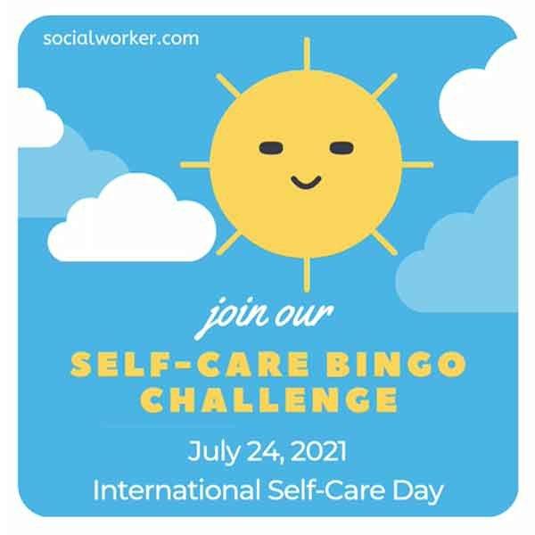 Self-Care Bingo Challenge 2021