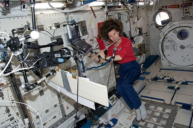 Coleman plays flute in space