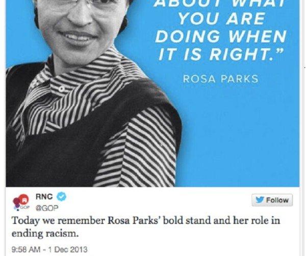 Rosa Parks Tweet