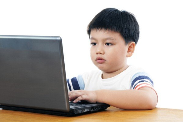 Young Boy With Computer