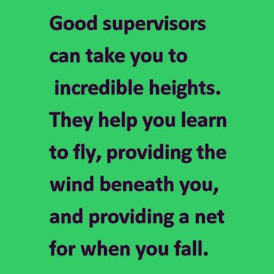 Good Supervisors