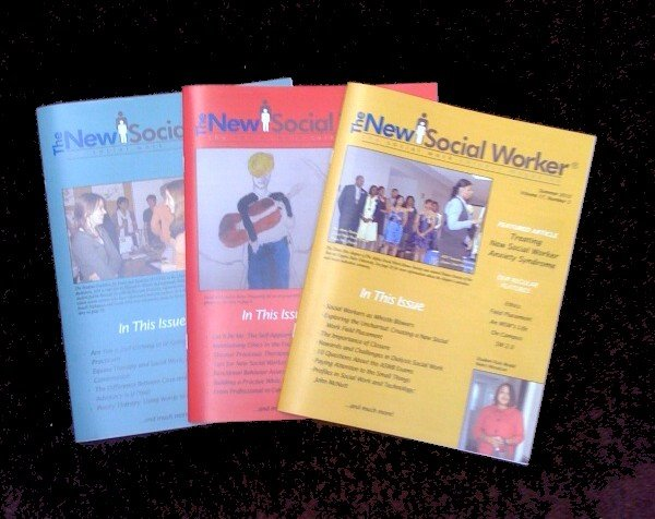 The New Social Worker Print Covers