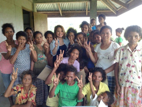 Aeta families of the Sitio Alunan community