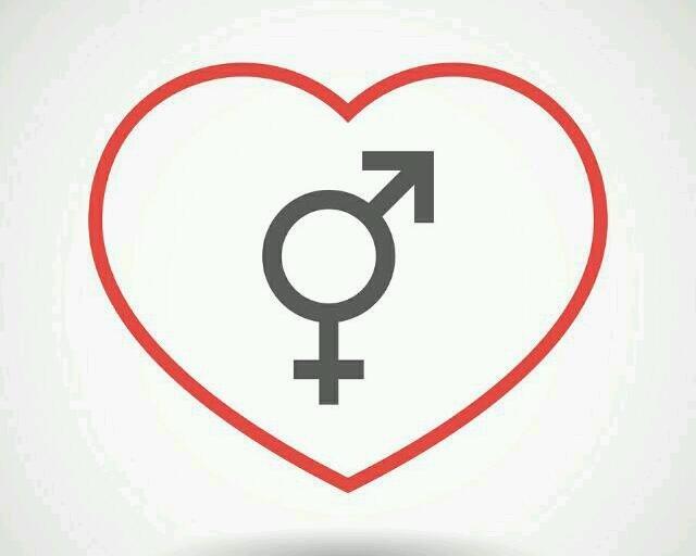 Transgender symbol inside heart